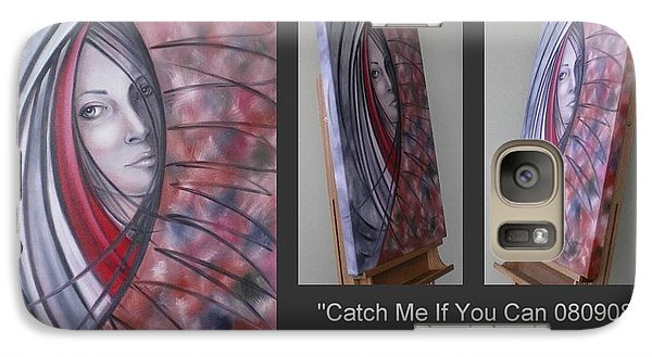 Galaxy Case featuring the painting Catch Me If You Can 080908 by Selena Boron