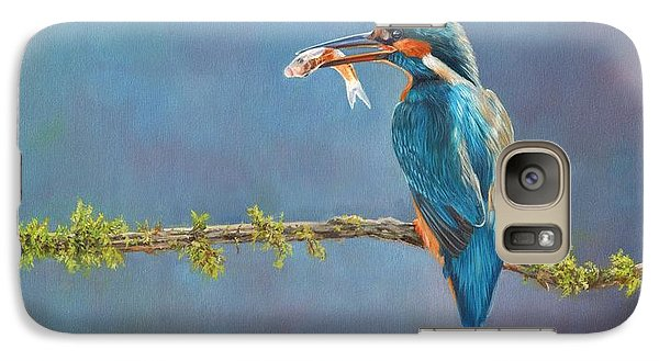 Kingfisher Galaxy S7 Case - Catch Of The Day by David Stribbling