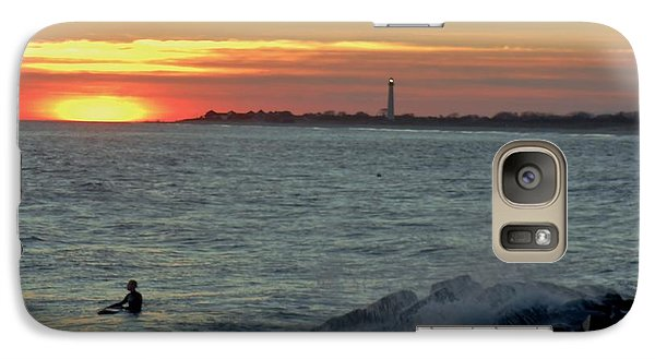 Galaxy Case featuring the photograph Catching A Wave At Sunset by Ed Sweeney