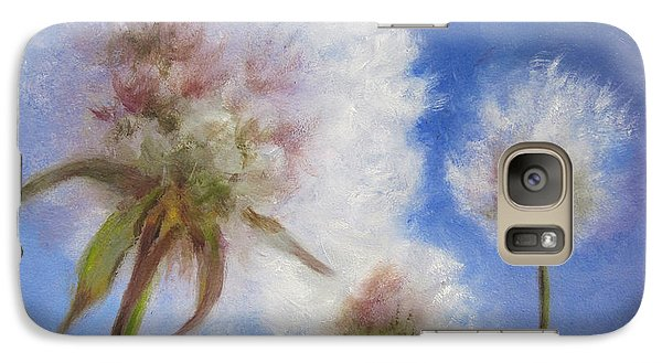 Galaxy Case featuring the painting Catching The Sun by Roseann Gilmore