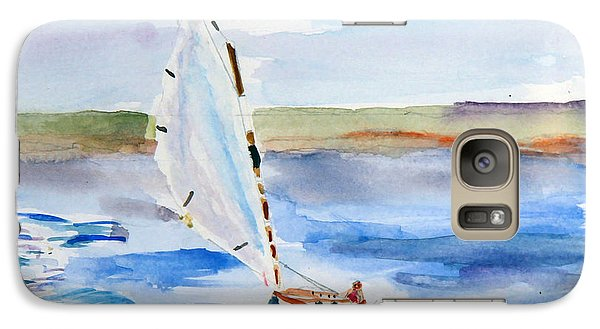 Galaxy Case featuring the painting Catching The Wind by Michael Helfen
