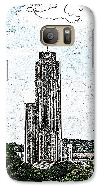 Galaxy Case featuring the photograph Cathederal Of Learning Artistic Brush by G L Sarti