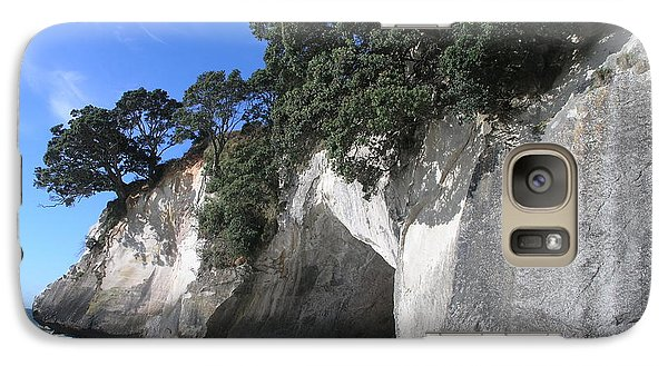 Galaxy Case featuring the photograph Cathedral Cove by Christian Zesewitz
