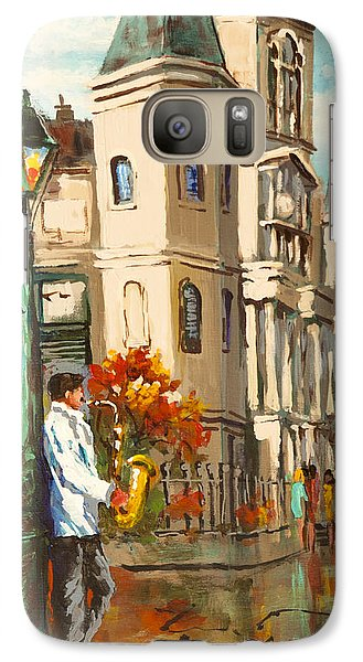 Galaxy Case featuring the painting Cathedral Jazz by Dianne Parks
