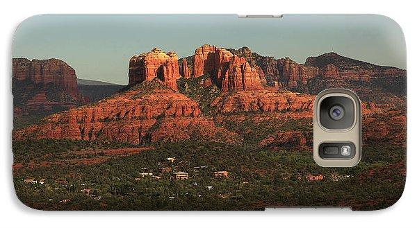 Galaxy Case featuring the photograph Cathedral Rocks In Sedona by Alan Vance Ley