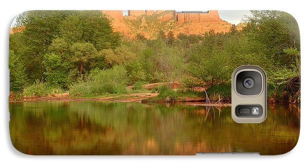 Galaxy Case featuring the photograph Cathedral Rocks Reflection by Alan Vance Ley