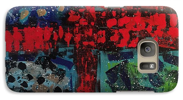 Galaxy Case featuring the painting Intersection Of Blame by Theresa Kennedy DuPay