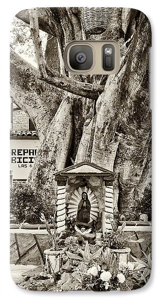 Galaxy Case featuring the photograph Catholic Shrine - Our Lady Of Guadalupe, Mexico - Travel Photography By David Perry Lawrence by David Perry Lawrence