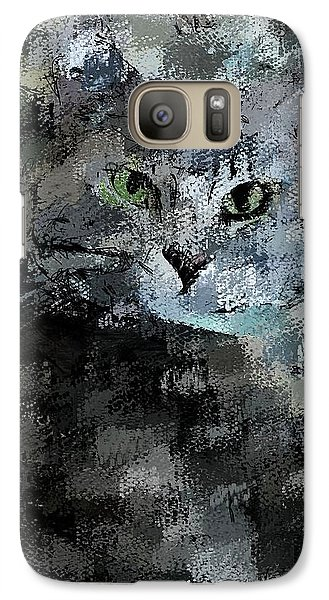 Galaxy Case featuring the digital art Cats Eye by David Lane