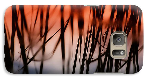 Galaxy Case featuring the photograph Cattail Reflections by Beth Akerman