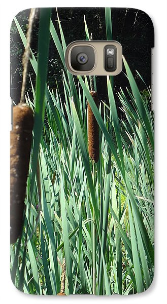 Galaxy Case featuring the photograph Cattails A Plenty by Michael Porchik