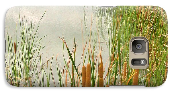 Galaxy Case featuring the photograph Cattails by Marilyn Diaz