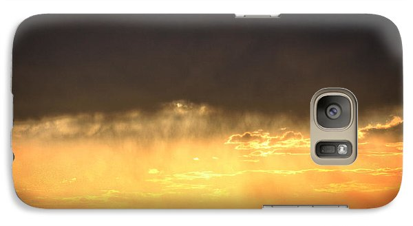 Galaxy Case featuring the photograph Cattle Fence At Sunset by Kate Purdy