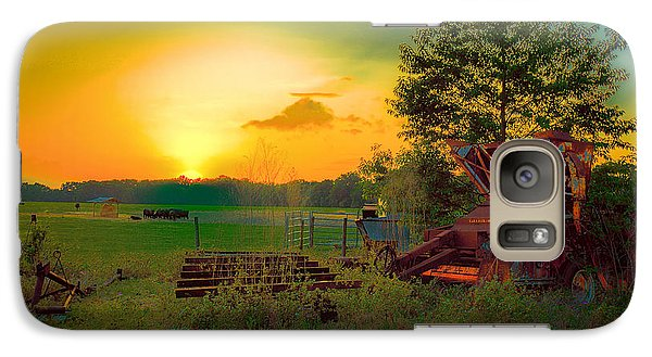 Galaxy Case featuring the photograph Cattle Ranch Sundown by Lewis Mann