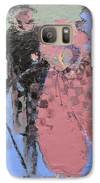 Galaxy Case featuring the painting Catwalk by Marina Gnetetsky