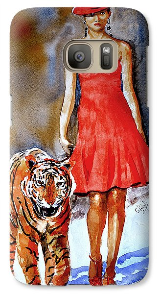 Galaxy Case featuring the painting Catwalk by Steven Ponsford