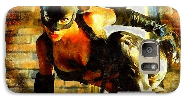 Galaxy Case featuring the painting Catwoman by Elizabeth Coats