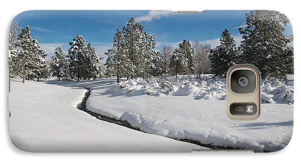 Galaxy Case featuring the photograph Caughlin Creek Snowfall by Vinnie Oakes