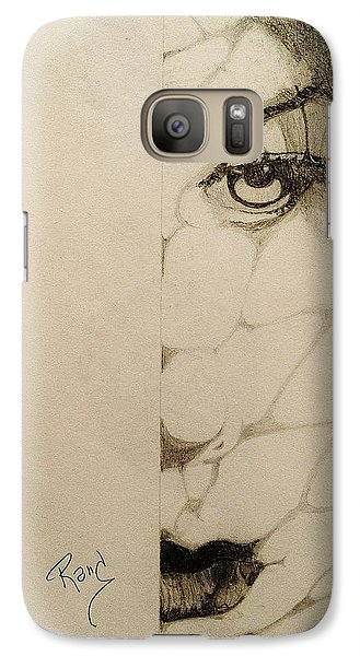 Galaxy Case featuring the drawing Caught In The Web by Rand Swift