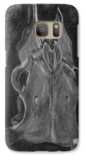 Galaxy Case featuring the drawing Cause And Effect by Brigitte Emme