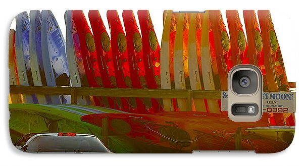 Galaxy Case featuring the photograph Causeway Kayaks by Alice Mainville
