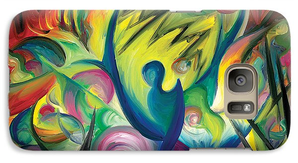 Galaxy Case featuring the painting Causing A Scene by Tiffany Davis-Rustam