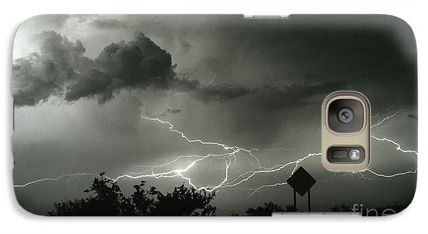 Galaxy Case featuring the photograph Caution Signs by J L Woody Wooden
