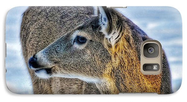 Galaxy Case featuring the photograph Cautious Deer by Trey Foerster