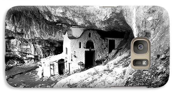 Galaxy Case featuring the photograph cave church on Mt Olympus Greece by Nina Ficur Feenan