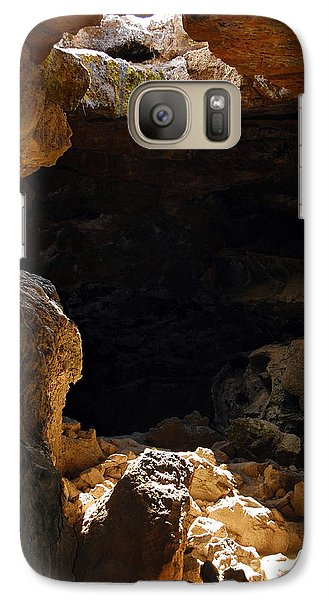 Galaxy Case featuring the photograph Cave Light by Debra Thompson