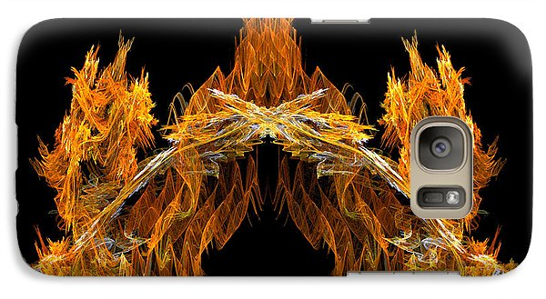 Galaxy Case featuring the digital art Cave Of The Fire Creature by R Thomas Brass