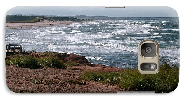 Galaxy Case featuring the photograph Cavendish Prince Edward Island Seascape by Joyce Gebauer