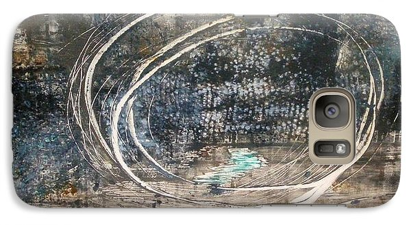 Galaxy Case featuring the painting Cavernous by Lesley Fletcher