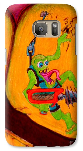 Galaxy Case featuring the drawing Cavity Creep by Justin Moore