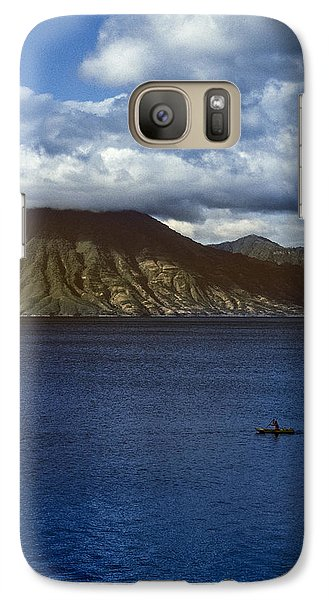 Galaxy Case featuring the photograph Cayuco On Lake Atitlan by Tina Manley