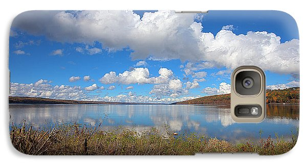 Galaxy Case featuring the photograph Cayuga Lake In Colorful Fall Ithaca New York II by Paul Ge