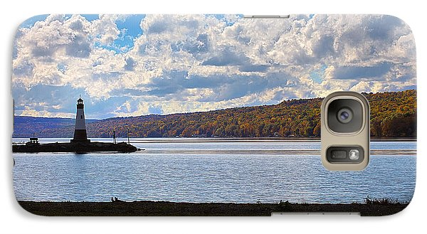 Galaxy Case featuring the photograph Cayuga Lake In Colorful Fall Ithaca New York IIi by Paul Ge