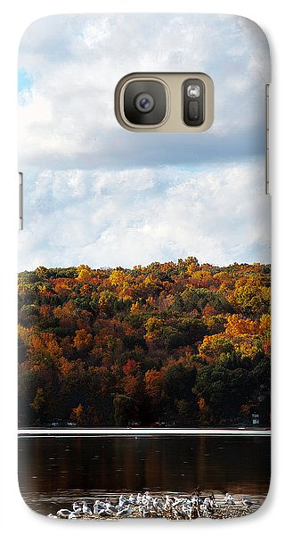 Galaxy Case featuring the photograph Cayuga Lake In Colorful Fall Ithaca New York  by Paul Ge