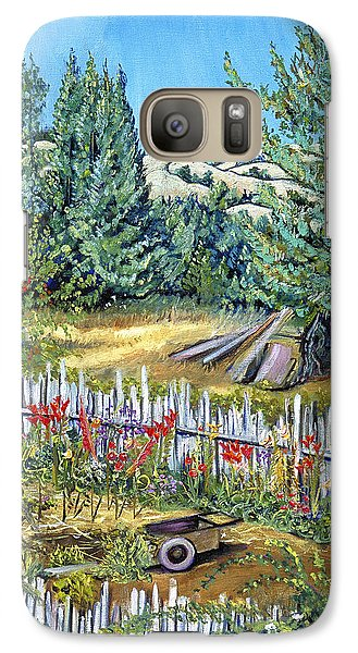 Galaxy Case featuring the painting Cazadero Farm And Flowers by Asha Carolyn Young