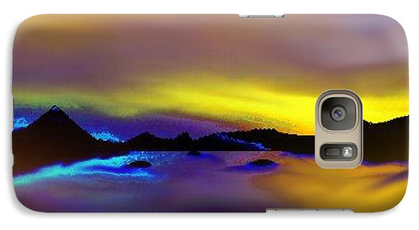 Galaxy Case featuring the painting Cebu Sunset by Yul Olaivar