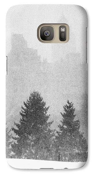Galaxy Case featuring the photograph Cedar Hill Snow Shapes by Dave Beckerman