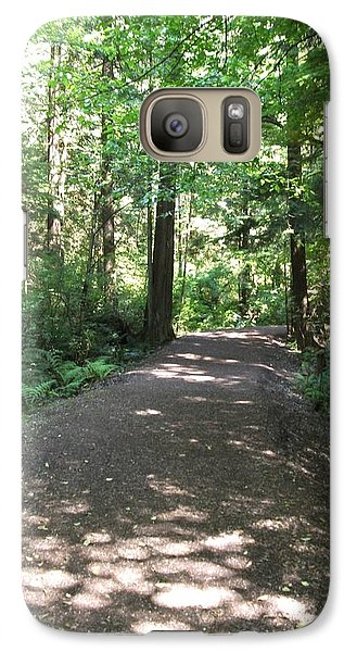 Galaxy Case featuring the photograph Cedar Shadow Steps by Kim Prowse