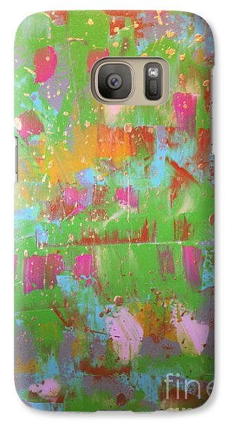 Galaxy Case featuring the painting Celebration In Green by Theresa Kennedy DuPay