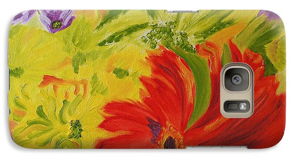 Galaxy Case featuring the painting Celebration Of Mom's Life by Meryl Goudey