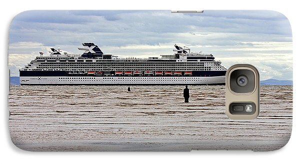 Galaxy Case featuring the photograph Celebrity Cruise Ship Infinity by Paul Scoullar