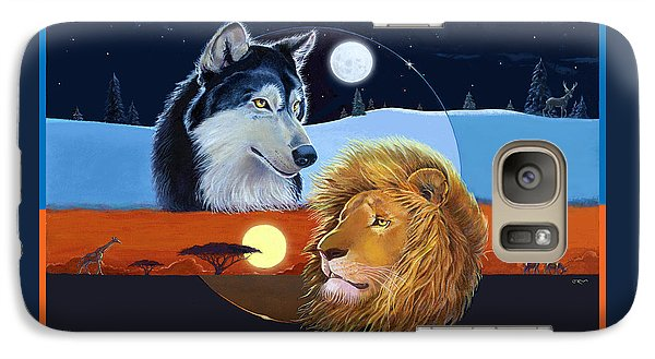 Galaxy Case featuring the mixed media Celestial Kings by J L Meadows