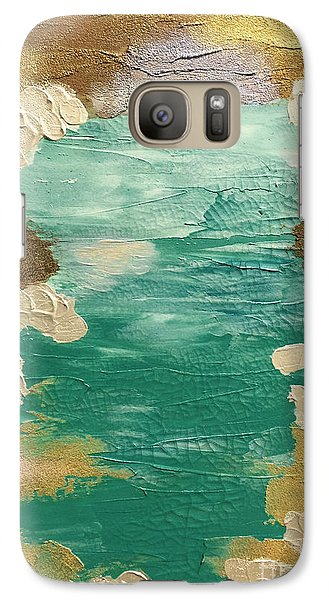 Galaxy Case featuring the painting Celestial Waters Below by Theresa Kennedy DuPay