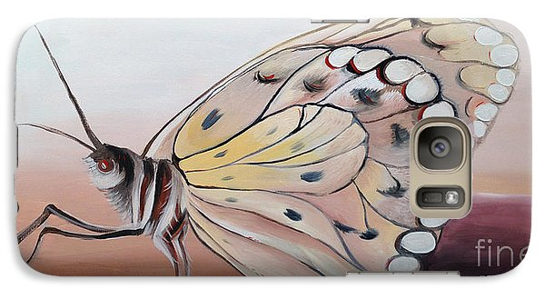 Galaxy Case featuring the painting Celine's Butterfly by Art Ina Pavelescu