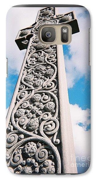 Galaxy Case featuring the photograph Art Nouveau Celtic Cross I by Peter Gumaer Ogden