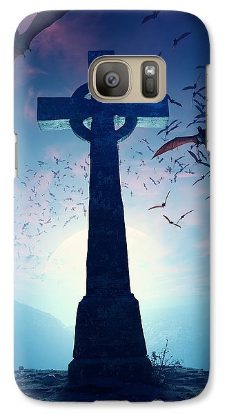 Celtic Cross With Swarm Of Bats Galaxy S7 Case